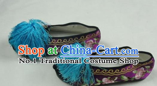 Chinese Beijing Opera Embroidered Shoes for Artists