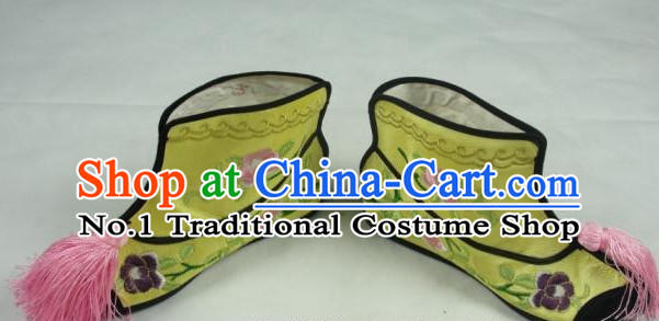 Chinese Peking Opera Embroidered Boots for Ladies