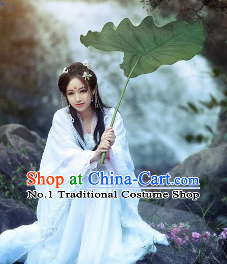 Chinese Classical White Fairy Dress for Women