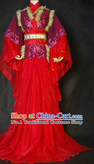 Chinese Style Red Dress for Women