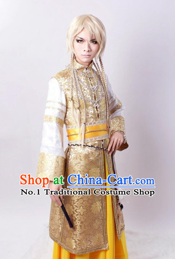 Asia Fashion Top Chinese Swordsman Cosplay Halloween Costumes Complete Set for Men