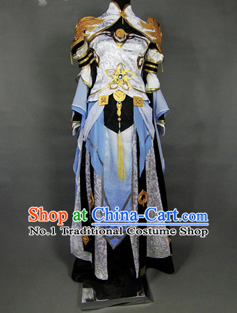 Asia Fashion Top Chinese Emperor Cosplay Halloween Costumes Complete Set for Men