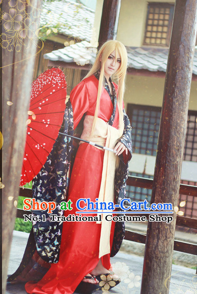 Top Traditional Japanese Kimono Halloween Costumes and Accessories Complete Set