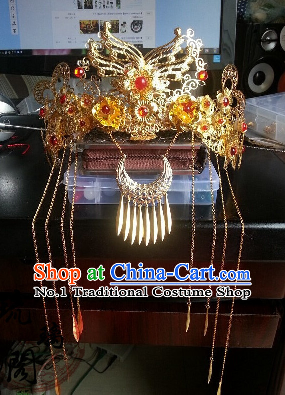 Chinese Traditional Wedding Hat for Women