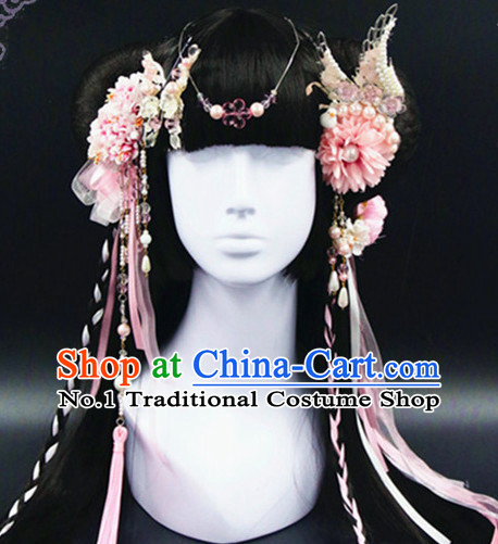 Chinese Traditional Handmade Princess Flower Hair Accessories Set