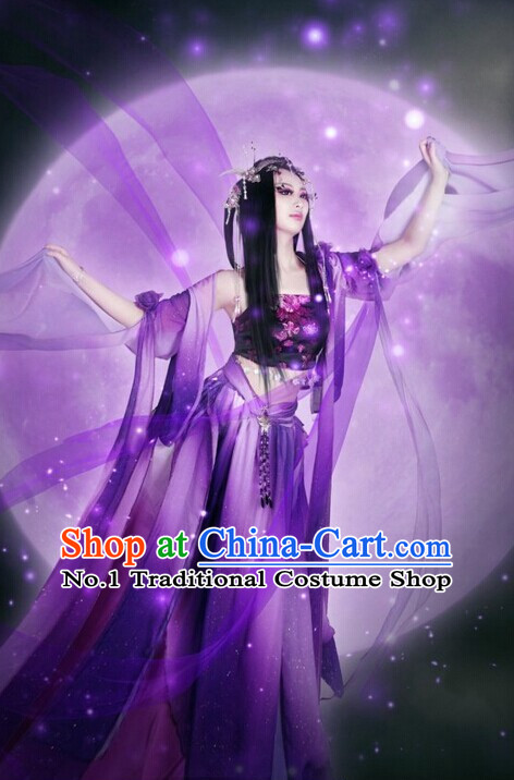 Chinese Classical Fei Tian Flying Angel Sexy Halloween Costumes Complete Set for Women