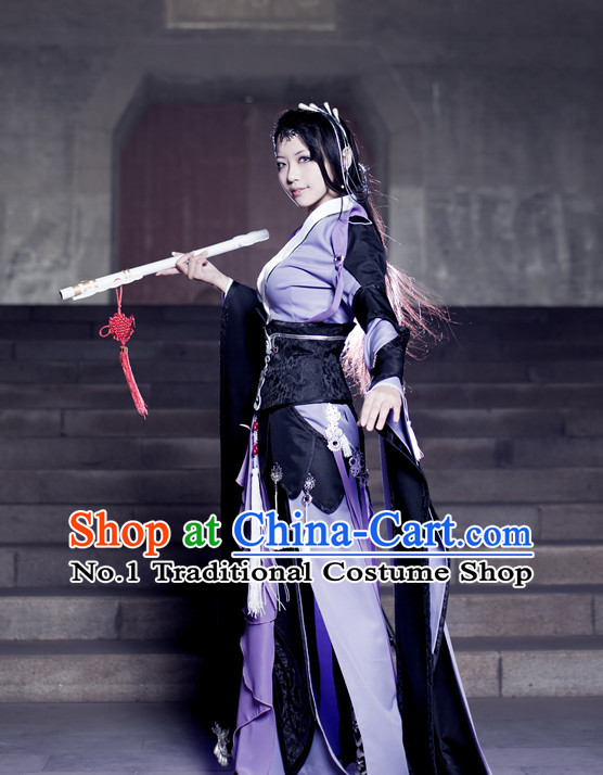 Asian Chinese Swordswomen Cosplay Costumes Halloween Costume Complete Set for Women