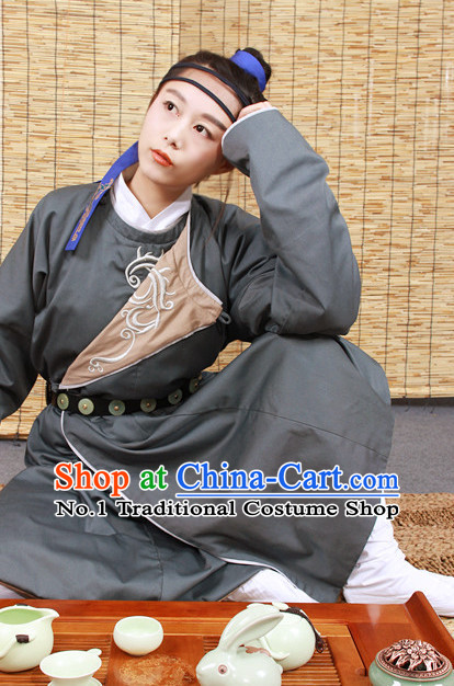 Chinese Ancient Hanfu and Hair Jewelry Complete Set for Kids