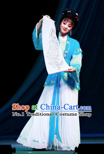 Asian Chinese Traditional Dress Theatrical Costumes Ancient Chinese Clothing Female Costumes