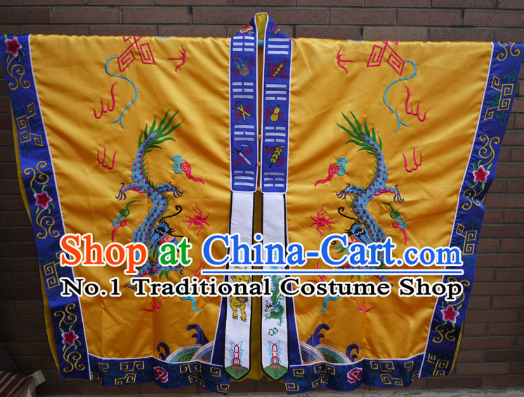 China Yellow Wudang Mountain Taoist Robe Complete Set for Men