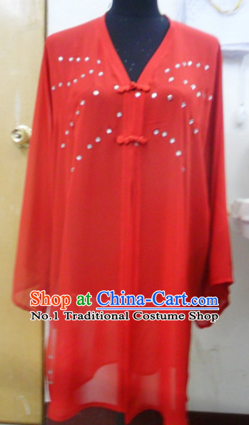 Red China Traditional Taoist Female Mantle