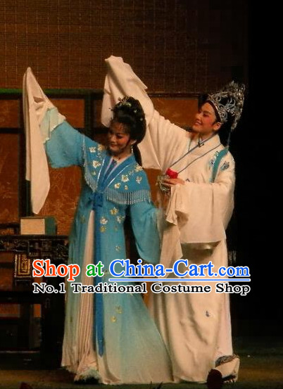 Asian Chinese Traditional Dress Theatrical Costumes Ancient Chinese Clothing Opera Husband and Wife Costumes