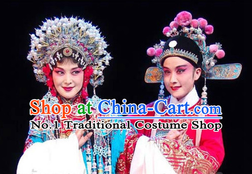Top Traditional Chinese Peking Opera Theatrical Costumes Wedding Coronet and Hat for Men and Women