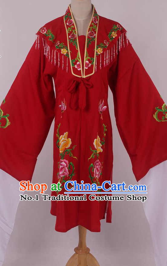 Chinese Traditional Oriental Clothing Theatrical Costumes Long Water Sleeves Opera Costumes