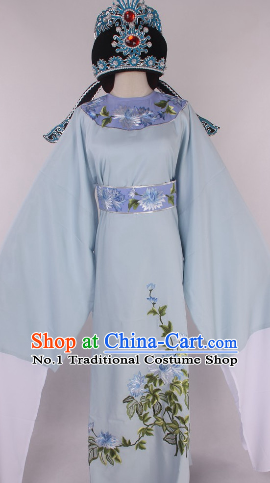 Chinese Traditional Oriental Clothing Theatrical Costumes Opera Costume and Hat for Men