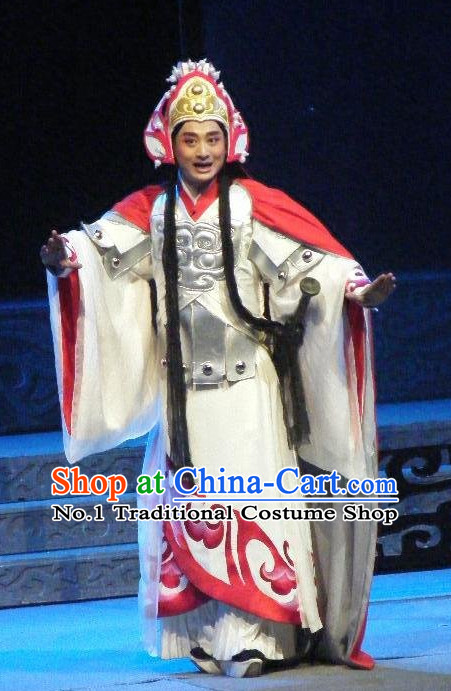 Chinese Traditional Dresses Theatrical Costumes Ancient Chinese Hanfu General Costumes and Hat