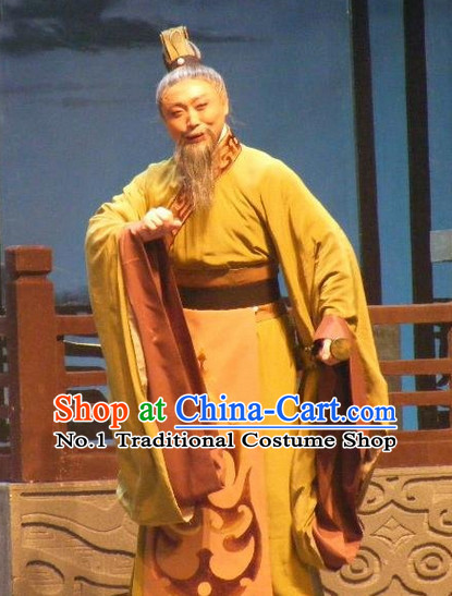 Chinese Traditional Dresses Theatrical Costumes Ancient Chinese Hanfu Prime Minister Costumes and Coronet