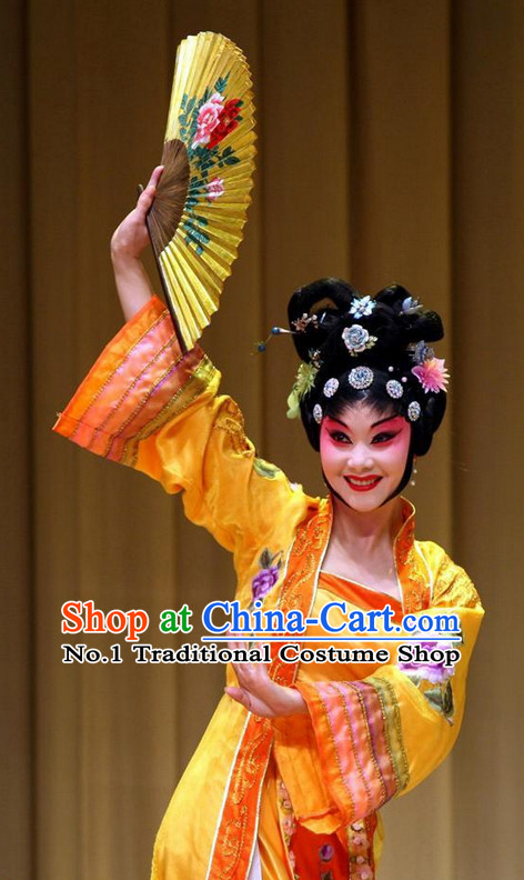 Traditional Chinese Handmade Opera Hair Accessories and Black Wigs