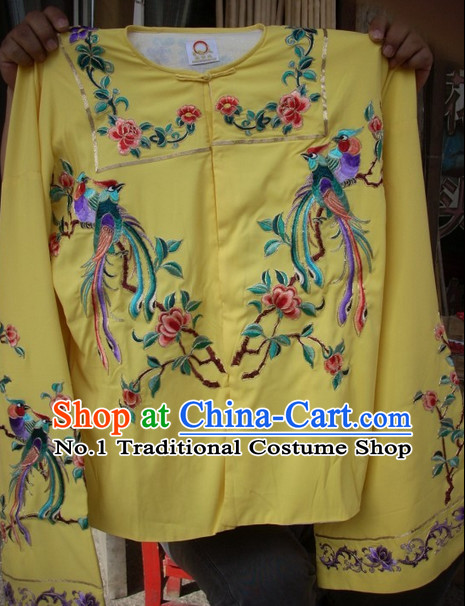 Ancient Chinese Beijing Opera Phoenix Embroidery Shirt