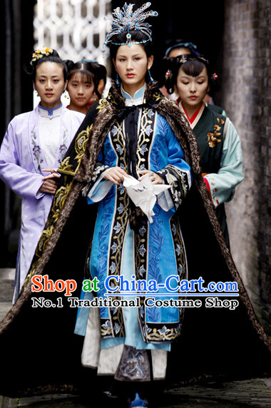 China Drama Dream of Red Chamber Jia Baoyu Costume and Hair Jewelry Complete Set for Women