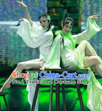 Pure White China Traditional Women Dancewear