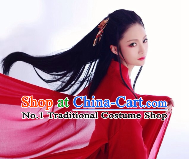 Traditonal Chinese Black Long Wigs for Women