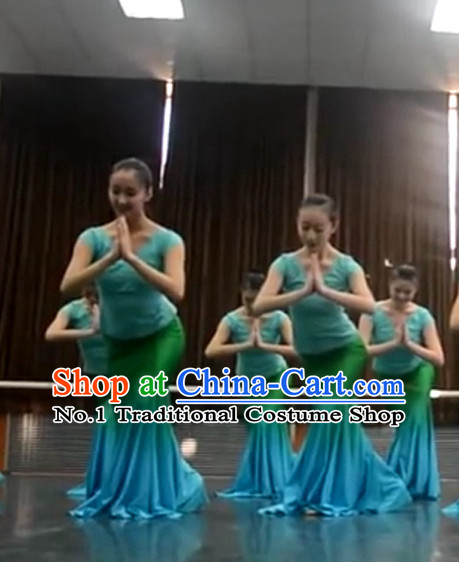 2012 Beijing Dance Academy Chinese Folk Dance Exam Girls Dai Dance Costumes