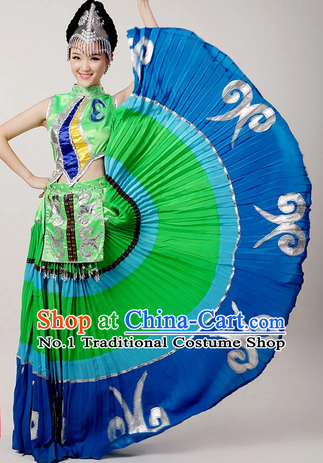 Top Beautiful Chinese Dance Costumes Calling Green Shade