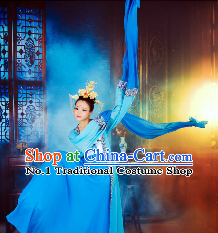 Beautiful Chinese Dance Costumes Zhang Ziyi Water Sleeve Dance