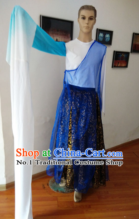 Chinese Long Sleeve Dancewear Costumes Complete Set for Men