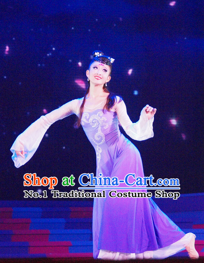 Chinese Classical Dancewear Costumes Complete Set for Women