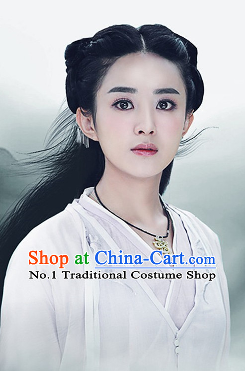 Chinese Traditional Fairy Long Black Wigs for Women