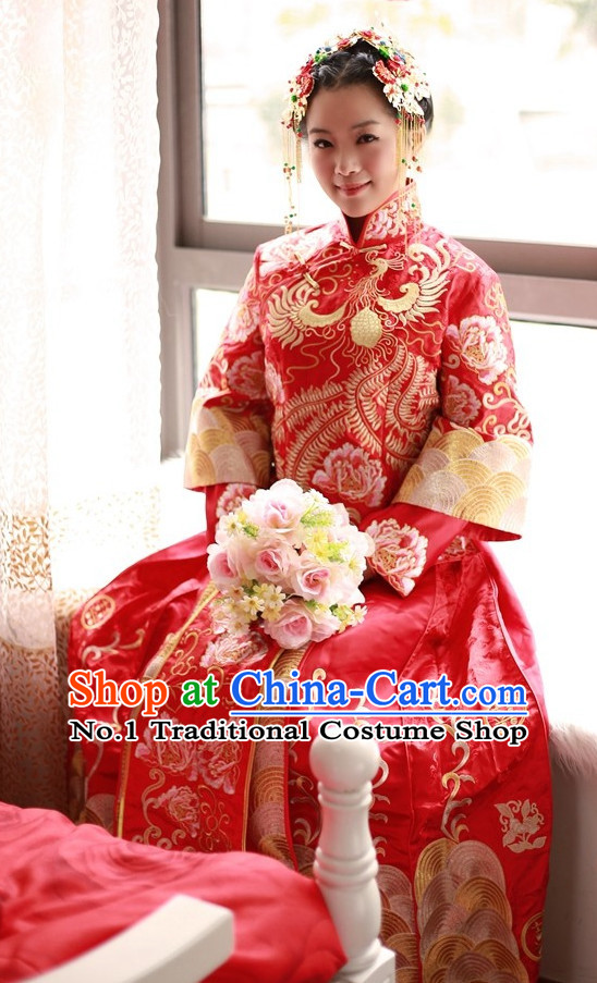 Top Chinese Wedding Dress Attire Oriental Wedding Outfit for Women