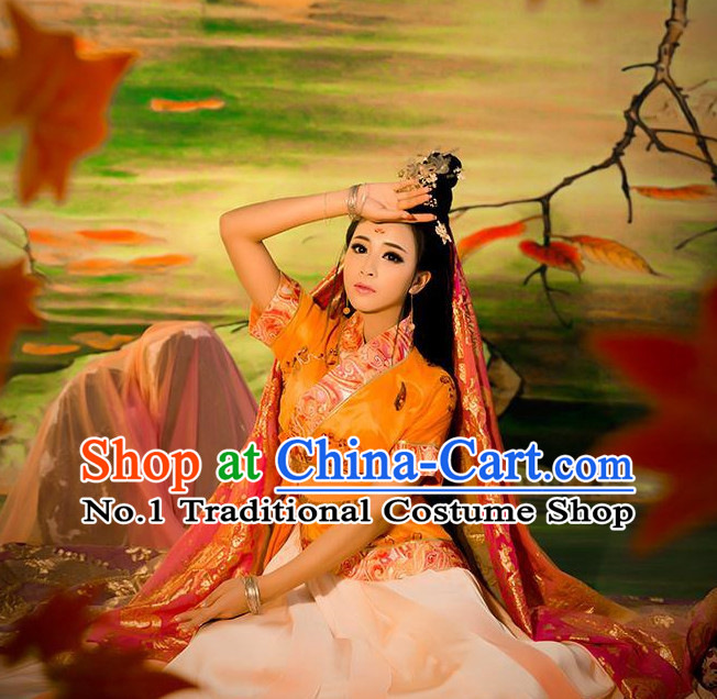 Chinese Ancient Zhao Feiyan Sexy Costumes Complete Set for Women