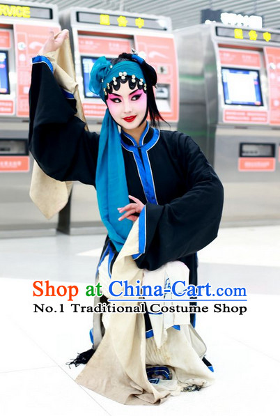 Chinese Peking Opera Costumes Qing Yi Cosutmes for Women