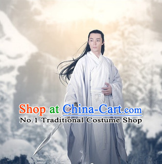 Chinese Hanfu Asian Fashion Japanese Fashion Plus Size Dresses Vntage Dresses Traditional Clothing Asian Costumes Hua Qian Gu Bai Zi Hua Costume for Men