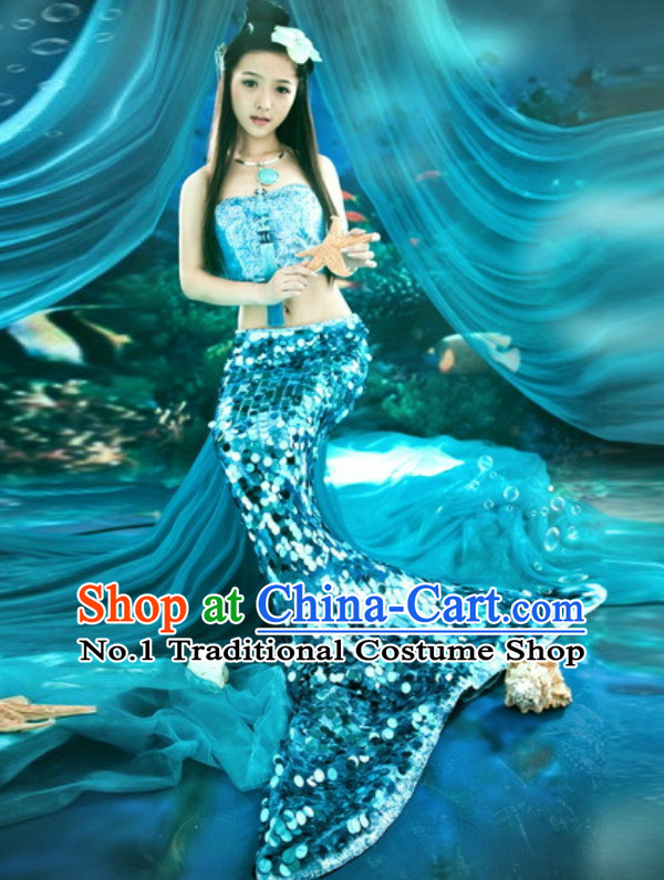 Custom Made Stage Performance Mermaid Costumes