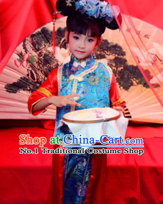 Traditional Chinese Princess Costumes and Hat for Kids