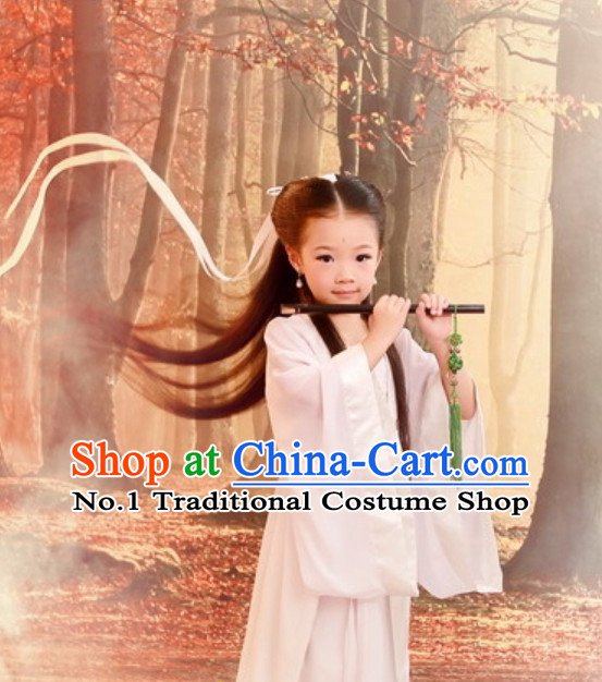 Traditional Chinese Fairy Costumes and Hat for Kids