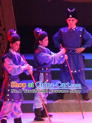 Chinese Traditional Dress Oriental Clothing Theatrical Costumes Opera Bodyguard Warrior Costume for Kids
