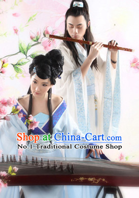 Traditional Chinese Photo Costume Husband and Wife Classical Costume and Hair Accessories Complete Sets