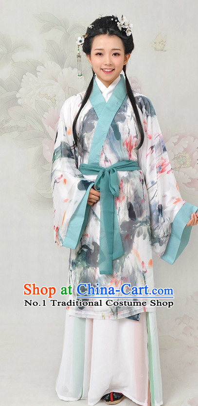 Chinese ancient costumes hanfu han fu traditional dress folk dress oriental clothing ruqun classical costumes for women men boys girls