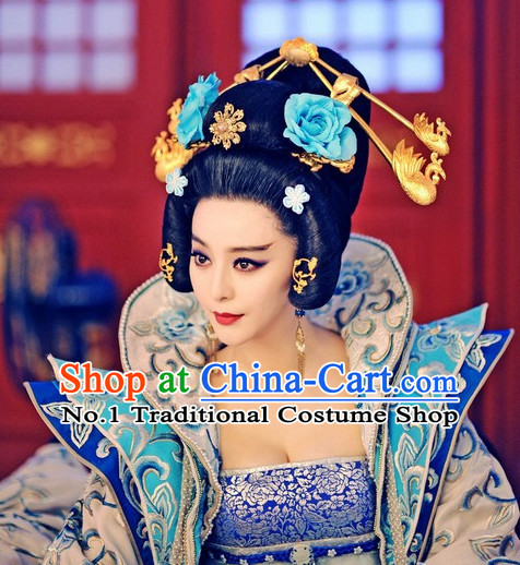 Handmade Chinese Empress Wigs and Hair Accessories