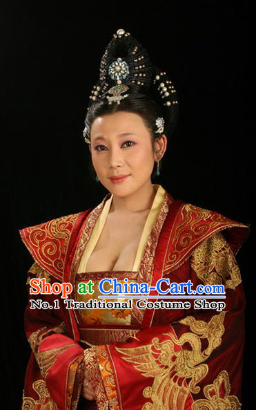 Handmade Chinese Palace Queen Wigs and Hair Accessories