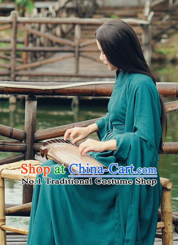 Ancient Chinese Hanfu Clothes Complete Set for Women