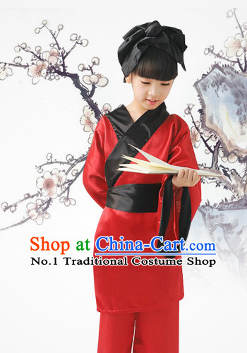 Red Chinese Traditional Hanfu Dress for KIDS