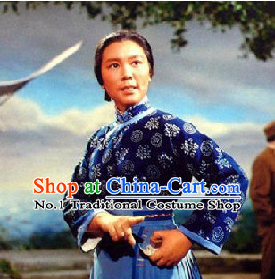 Hong Deng Ji Chinese Farmer Costumes for Women