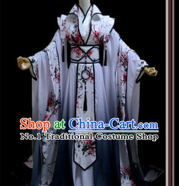 Plum Blossom Flower Ancient Chinese Poetess Costume Complete Set for Women