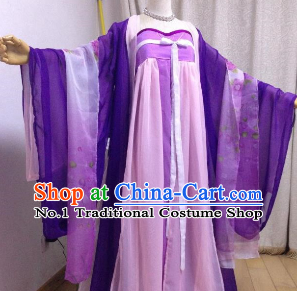Purple Pink Ancient Chinese Princess Clothes Complete Set for Women