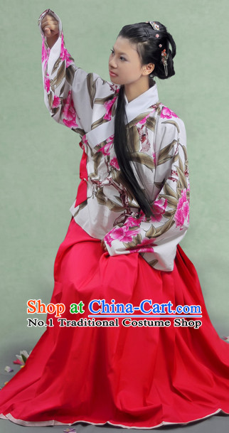 China Ancient Hanfu Cultural Garment Dresses